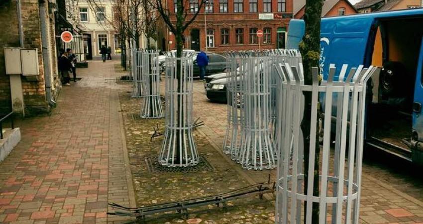 Stumbru aizsargi Jēkabpils Vecpilsētas laukumā